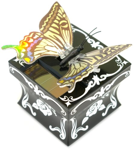 SOLAR TOY. MOTION FAIRY BUTTERFLY YELLOW AND SMALL JEWELRY BOX BY SEGA TOYS,LTD by Sega