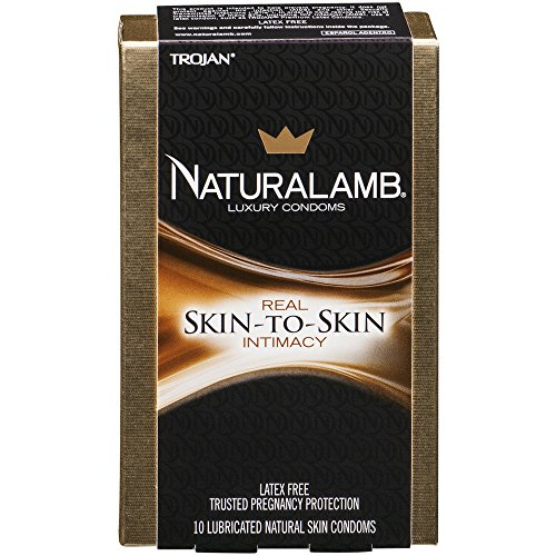 TROJAN NaturaLamb Luxury Lubricated Natural Skin Condoms 10 ea (Naturalamb Trojan Condoms)