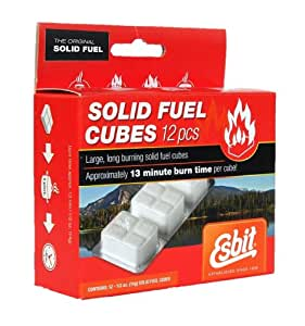 Esbit 1300-Degree Smokeless Solid Fuel Tablets for Backpacking, Camping, Emergency Prep, and Hobby, 4-gram, 20-pieces