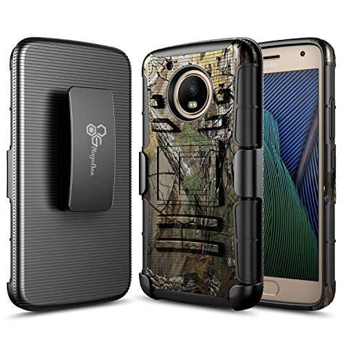 Moto G5 Case, NageBee [Heavy Duty] Armor Shock Proof Dual Layer [Swivel Belt Clip] Holster with [Kickstand] Combo Rugged Case for Motorola Moto G (5th Generation) / Moto G5 4G LTE XT1671 (Camo) (Cell Moto Phone Case Camo G)