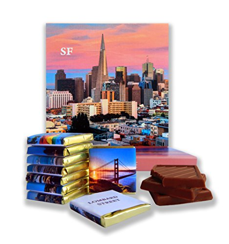 DA CHOCOLATE Candy Souvenir SAN FRANCISCO Chocolate Gift Set 5x5in 1 box (Sunset - Castro Sf Street
