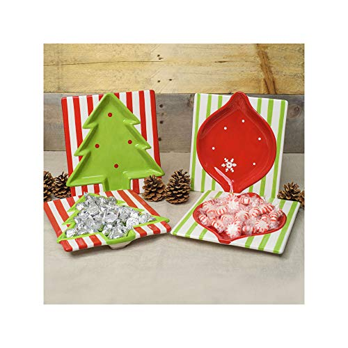 An item of Member's Mark Hand-Painted Holiday Candy Dishes, Set of 4Pack of 2 -