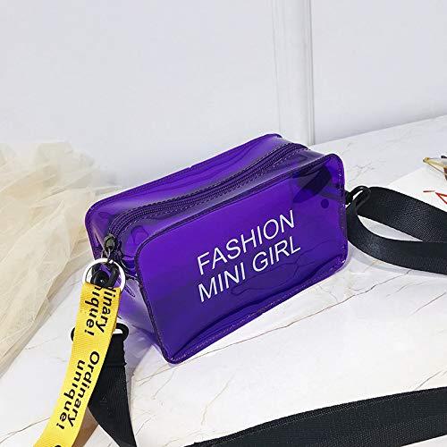 Bag Saoga Viola Moda Coreana Laser Messenger Borsa Versione Per Tracolla Porpora Sacchetto Bambini Della Selvaggia Da Trasparente Marea Donna La SwvrqS