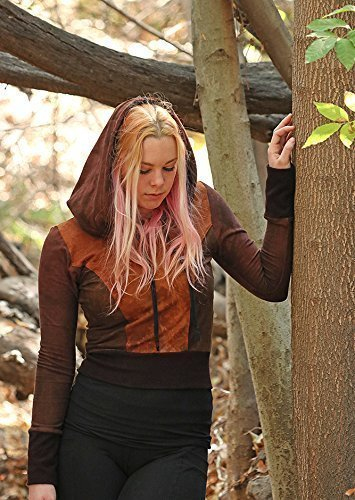 Durban Cropped Hoodie sweater sweatshirt hemp bamboo eco-friendly clothing handmade sustainable festival vegan yoga crop