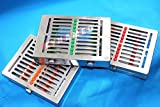 NEW DETACHABLE SET OF 3 GERMAN STAINLESS DENTAL AUTOCLAVE STERILIZATION CASSETTE RACK BOX TRAY FOR 10 INSTRUMENTS ( CYNAMED BRAND )