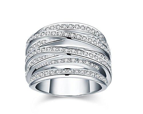 Swiss CZ Crystal Diamond Wedding Ring - 5