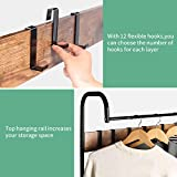 alvorog Coat Rack, Shoe Bench, Vintage 3-in-1 Hall
