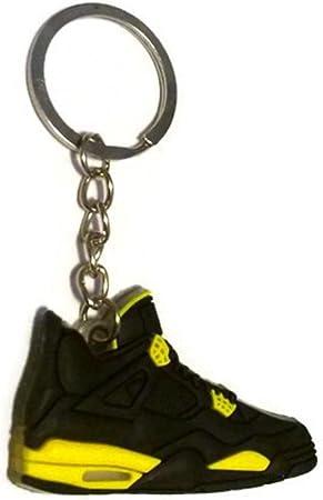 Amazon.com: Air Jordan 4 IV AJ4 Retro thunder Negro/Amarillo ...