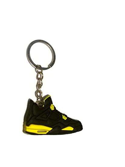 694c30b8bafed8 Image Unavailable. Image not available for. Color  Air Jordan 4 IV AJ4 Retro  Thunder Black   Yellow ...