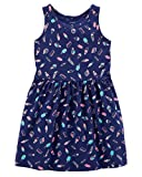 Carter's Girls' 2T-8, Lightweight Cotton Jersey Tank Dresses (Navy/Ice Cream, 5T)