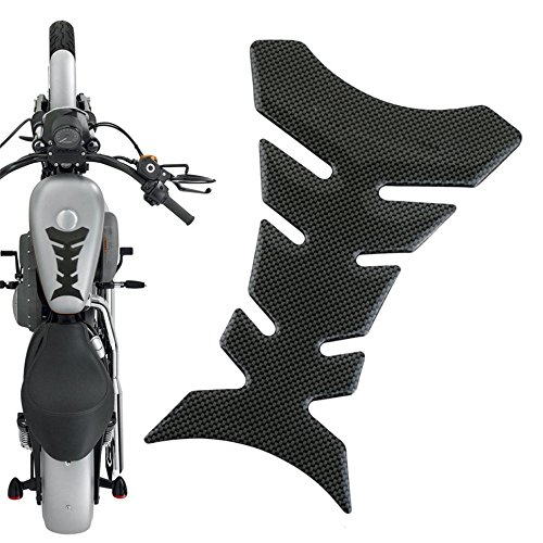 Gugutogo Etiqueta engomada del protector del coj/ín del tanque CBR 600 1000 de la fibra de carbono para la motocicleta de Honda