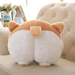 Clearance !!! Novelty Corgi Bottom Warm Pillow Dog Buttocks Hand Cushion Plush Pillow (Multicolor)