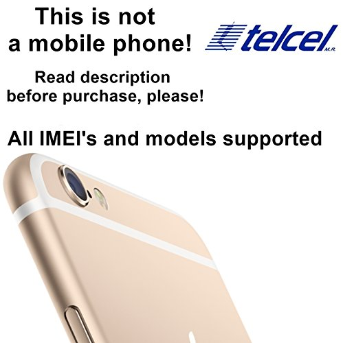 Telcel Mexico Factory Unlock Service for iPhone Mobile Phones - All IMEI`s Supported - Feel the Freedom