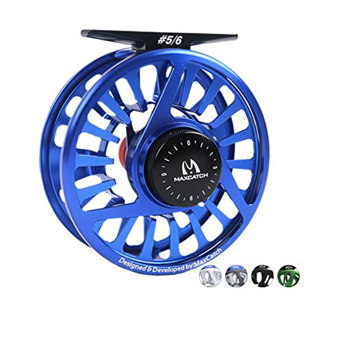 M MAXIMUMCATCH Maxcatch Avid Series Best Value Fly Fishing Reel- 1/3, 3/4, 5/6, 7/8, 9/10-5 Color Available (Blue, 9/10wt) (Fly Reel 10)
