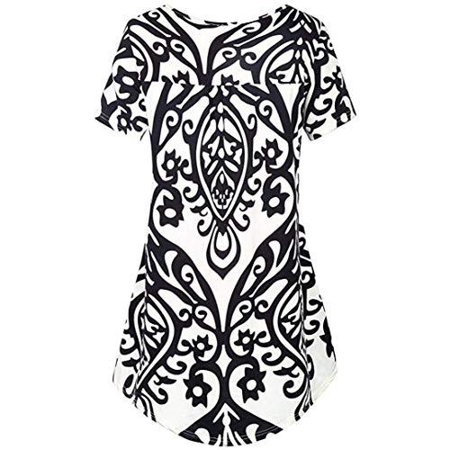 Confortable Rond Button Chemise Blouse Manches Basic Blouse Casual Courtes Et Col HX Verticales Femme Mode Branch Blanc Vetement Shirts Rayures Haut Elgante fashion Plier 4qxwa6z