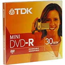 TDK 1.4GB Mini DVD-R Disc for Camcorder (Discontinued by Manufacturer)