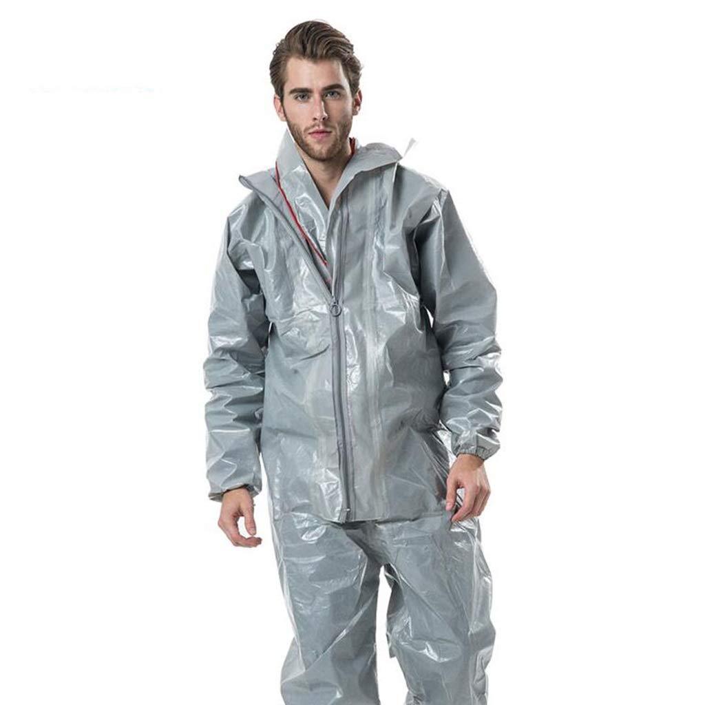 Indumenti protettivi siamesi antipolvere con cappuccio antistatico a prova di polvere e antiriflesso Protezione Tipo 3//4//5//6 Size : L