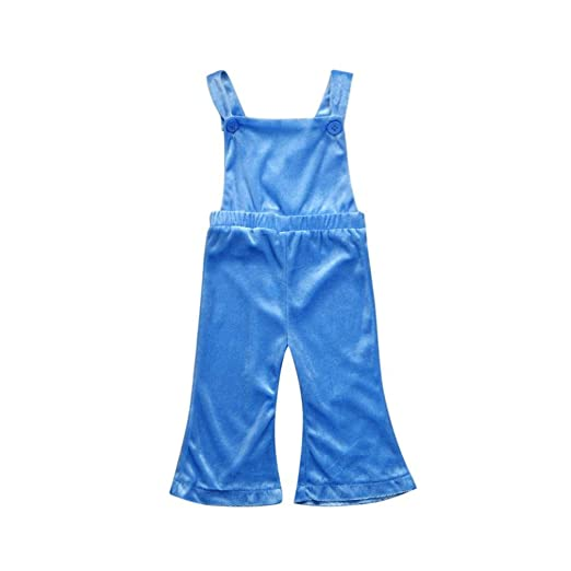 1063831b7d G-real Baby Girls Toddler Kids Solid Strap Overalls Bell-Bottom Pants  Jumpsuit for