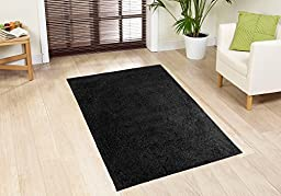 Cool Home Our Space Collection Solid Color Area Rugs, Black