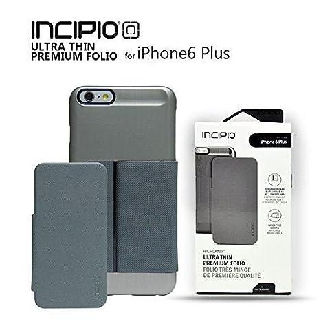 Original Incipio Highland Ultra Thin Folio Brushed Aluminium Finish For iPhone 6 Plus (Platinum Brand Iphone 6 Plus Case)