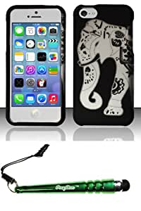 FoxyCase(TM) FREE stylus AND For iPhone 5c - Rubberized Design Case Cover Protector Elephant Desire Safe Phone cas couverture