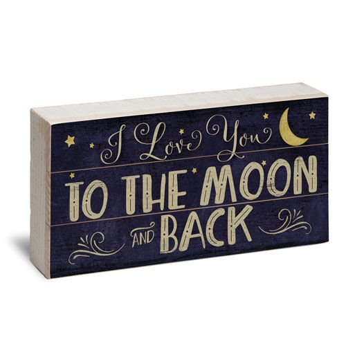 Love You to The Moon and Back Reclaimed Pallet Box Wood Sign