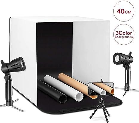 ESDDI Caja de luz 40cm Brillo Ajustable para Estudio Fotográfico ...