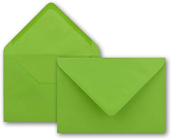 Sobres coloridos de Neuser 80g/m², sobres B6,175x 125mm, cierre mojado., color verde claro 300 Umschläge