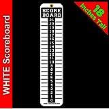 Sign Screen Scoreboard~Washers~Cornhole~Bean Bag~Bocce Ball~Horse Shoes~White 4x18