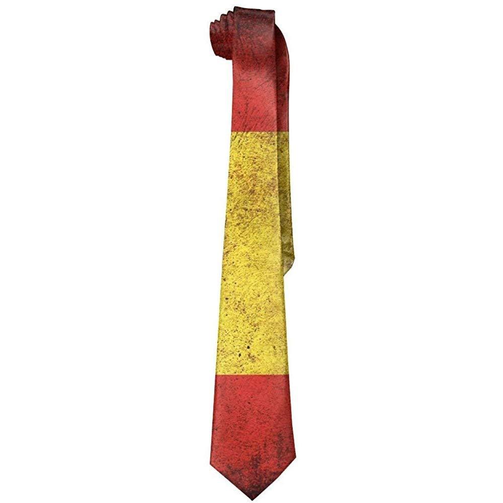 Corbatas de la bandera de Espa/ña del vintage de los hombres Corbatas formales del negocio de la novedad