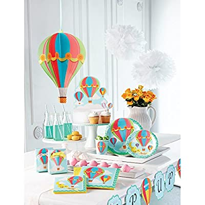 Creative Converting Up, Up & Away Dinner Plates (8 Count), 9