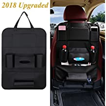 Car Seat Organizer, PU Leather Multifunctional Car Back Seat Organizer 8 Pockets Car table tablet, Bottles, Notebook,Phone, Tissue, Umbrella Holder Universal Car Organizer Backseat for SUV, Car, Truck
