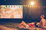 Remoze 100 Inch Projection Screen 16:9 Portable HD Movie Screen, PVC Fabric Projector Screen for Outdoor Home Theater