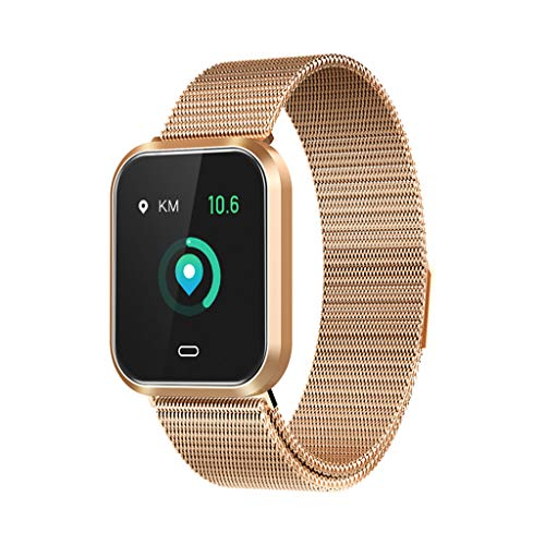 HankuQ7S Smart Watch Heart Rate Blood Pressure Sleep Monitor Color Screen Smart Band (Gold)