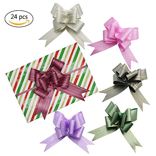24Pcs Large Gift Pull Bows- 7