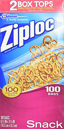 Ziploc Snack Bags, Value Pack, -