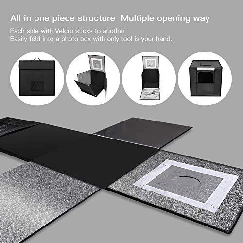 "ESDDI Box 24""/60cm Adjustable Portable Folding Loop Table Top Lighting Kit Colors"