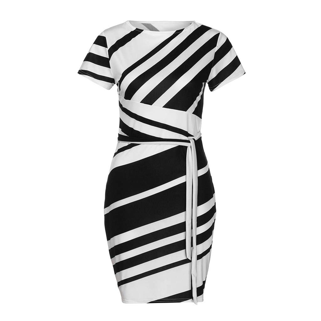 Lucy Super Women's Holiday Summer Dress Women's Working Dresses Stripe Party Dress Casual Mini Dresses Vintage Printing Party Vestidos