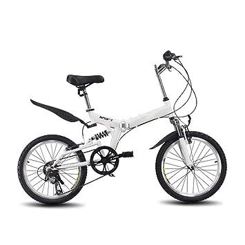 Grimk Bicicleta Plegable Unisex Adulto Aluminio Urban Bici Ligera Estudiante Folding City Bike con Rueda De 20 Pulgadas,Sillin Confort Ajustables,6 ...