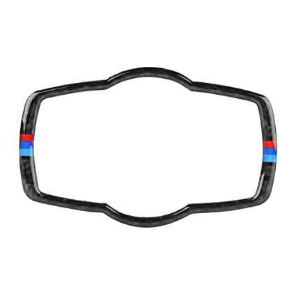 b18a9118f5a5 Image Unavailable. Image not available for. Color  Acouto Carbon Fiber Car  Interior Headlight Switch Button Frame Cover Trim for BMW ...