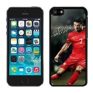 Soccer Player Cristiano Ronaldo(1) Black iPhone 5C Phone Case Genuine Custom Cover