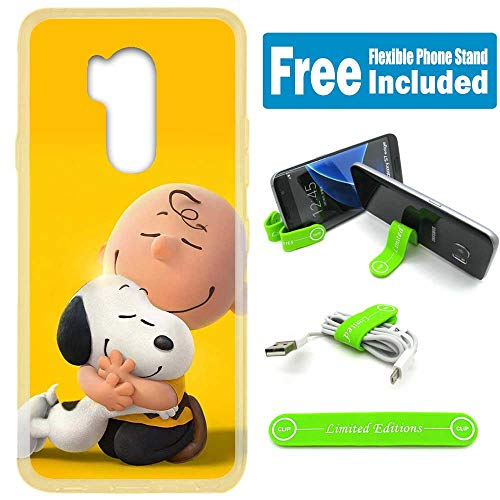 - [Ashley Cases] for LG G7 ThinQ Cover Case Skin with Flexible Phone Stand - Peanuts Snoopy Hug