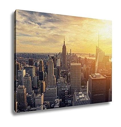 Amazon.com: Ashley Canvas New York City Skyline With Urban ...