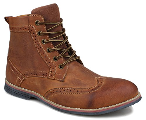 Froon Men's Leather Brogue Lace up Premuim Boot - stylishcombatboots.com