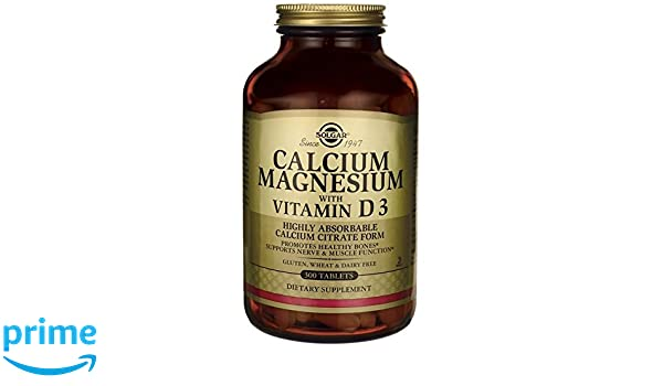 Solgar, Calcium Magnesium with Vitamin D3, 300 Tablets: Amazon.es: Salud y cuidado personal