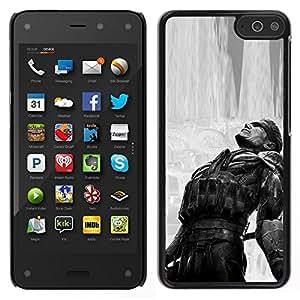 Caucho caso de Shell duro de la cubierta de accesorios de protección BY RAYDREAMMM - Amazon Fire Phone - Metal Gear B & W