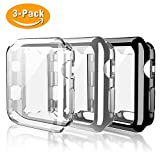 Belyoung For Apple Watch Case 42mm 3 PACK, for iWatch Screen Protector TPU All-around Full Front Protective Case for Apple Watch Series 3, Series 2, Series 1