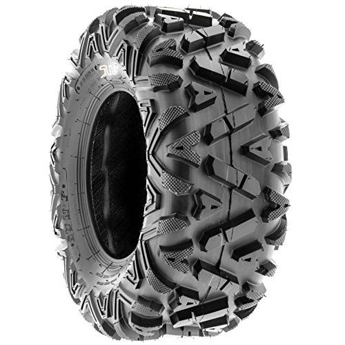 SunF Power.I 25 inch ATV UTV all-terrain Tires 25x8-12 & 25x11-12, 6 PR Front & Rear Set of 4 A033, Tubeless by SUNF (Image #6)