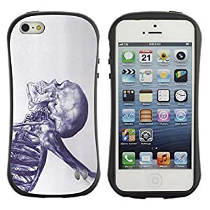 Paccase / Suave TPU GEL Caso Carcasa de Protección Funda para - Skeleton Death Ink Metal Tattoo - Apple Iphone 5 / 5S