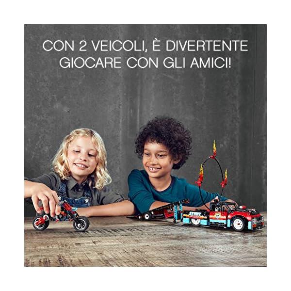 """LEGO Technic Truck e Moto dello Stunt Show, con Azione """"pull-Back"""", con 2 Modelli da Costruire ed Infinite Possibilità di Gioco, per Ragazzi +8 Anni, Appassionati e Collezionisti, 42106 6 spesavip"""